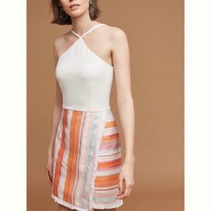 HUTCH Anthropologie Kalyn Halter Above-Knee Dress
